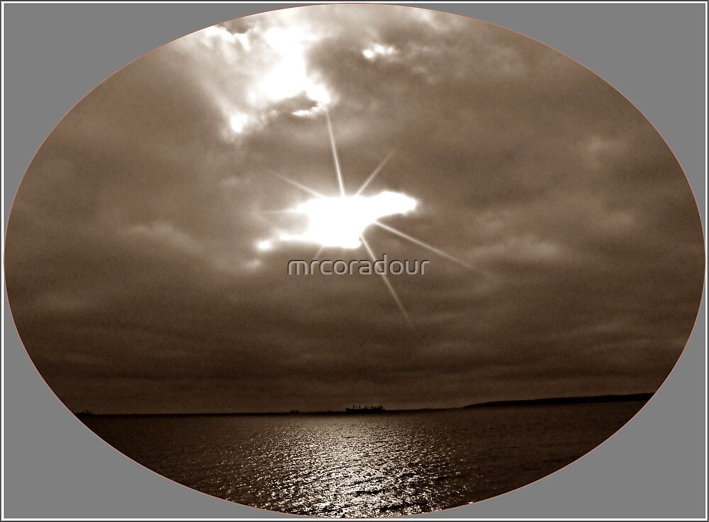 Christmas Eve over Falmouth Bay. by Malcolm Chant