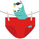 Budgie and swimmers by creativemonsoon