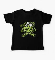 Cute Cartoon Green Monster by Cheerful Madness!! Baby Tee
