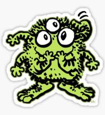 Cute Cartoon Green Monster by Cheerful Madness!! Sticker