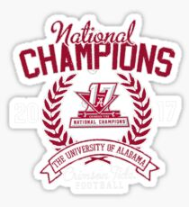 Alabama 2017  National Champions Shirt Sticker