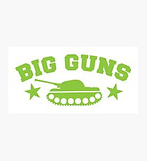 BIG GUNS Photographic Print