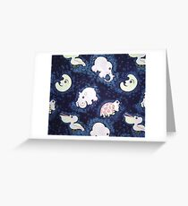 Cosmic Critters Greeting Card