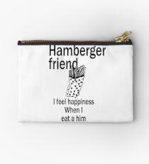 Hamberger friend (Faithful Reproduction) Zipper Pouch