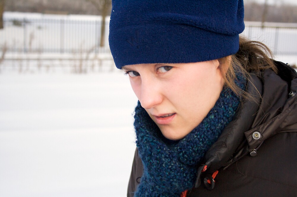 Jennie hates the MN cold by Andrew Boysen