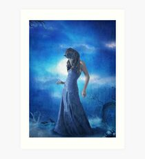 The Darkest Blue,The Lighest Blue... Art Print