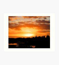 Wetlands Sunset Art Print