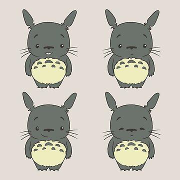 Cute little Totoro posing by telurico