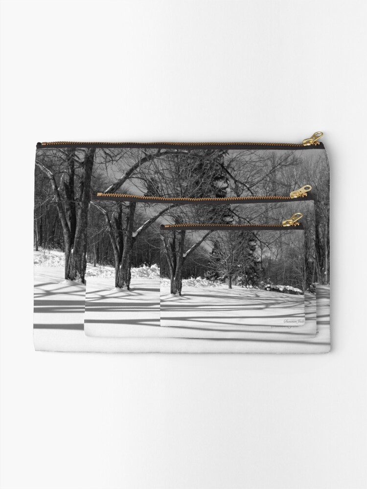 Alternate view of That Cold Winter Sun ~ On Snow Zipper Pouch
