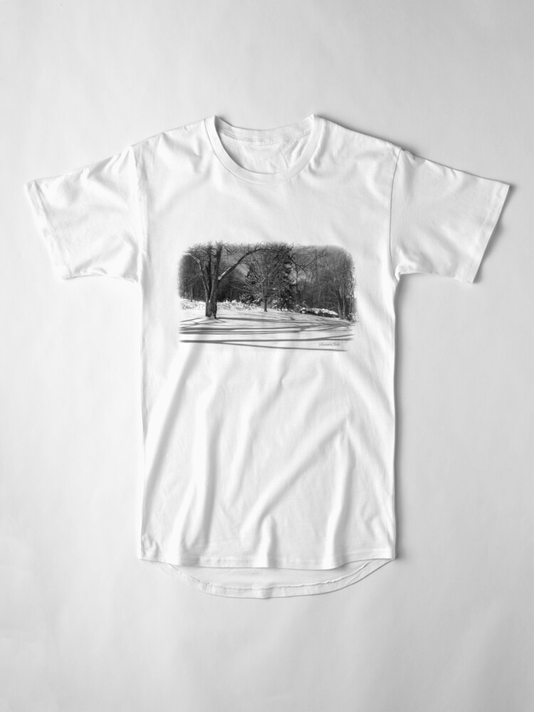 Alternate view of That Cold Winter Sun ~ On Snow Long T-Shirt