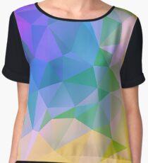 Mosaic triangle bright trendy pattern  Chiffon Top