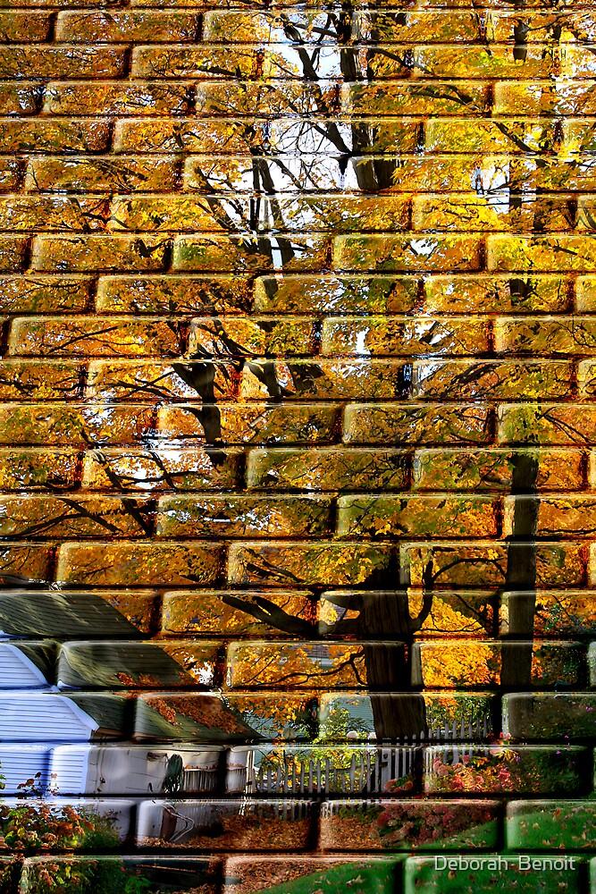 Autumn On Brick by Deborah  Benoit