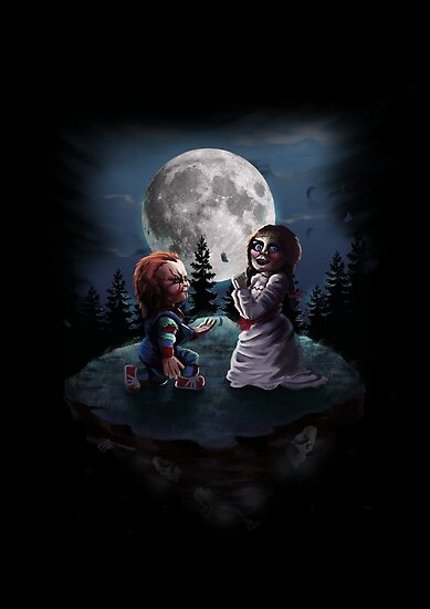 chucky vs annabelle posters by nathdesign redbubble