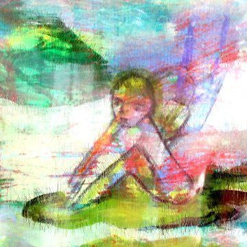 Small fairy on a leaf by MarilynBaldey7
