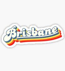 Brisbane, QLD | Retro Rainbow Sticker
