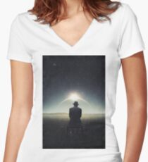 Distance ... Women's Fitted V-Neck T-Shirt
