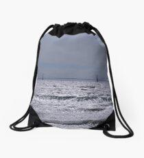 Mackinac Bridge  Drawstring Bag