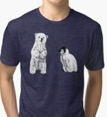 polar bear and penguin Tri-blend T-Shirt