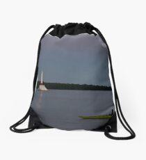 Sunset Views from Mackinac Island Drawstring Bag