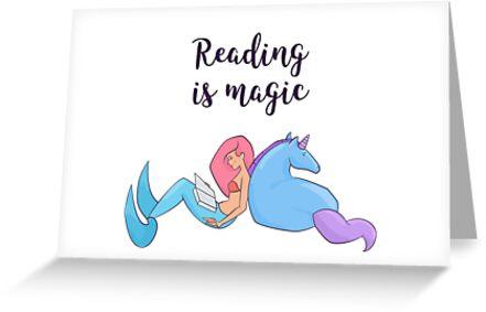 Reading is magic.  by svyatoslava