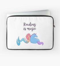 Reading is magic.  Laptop Sleeve