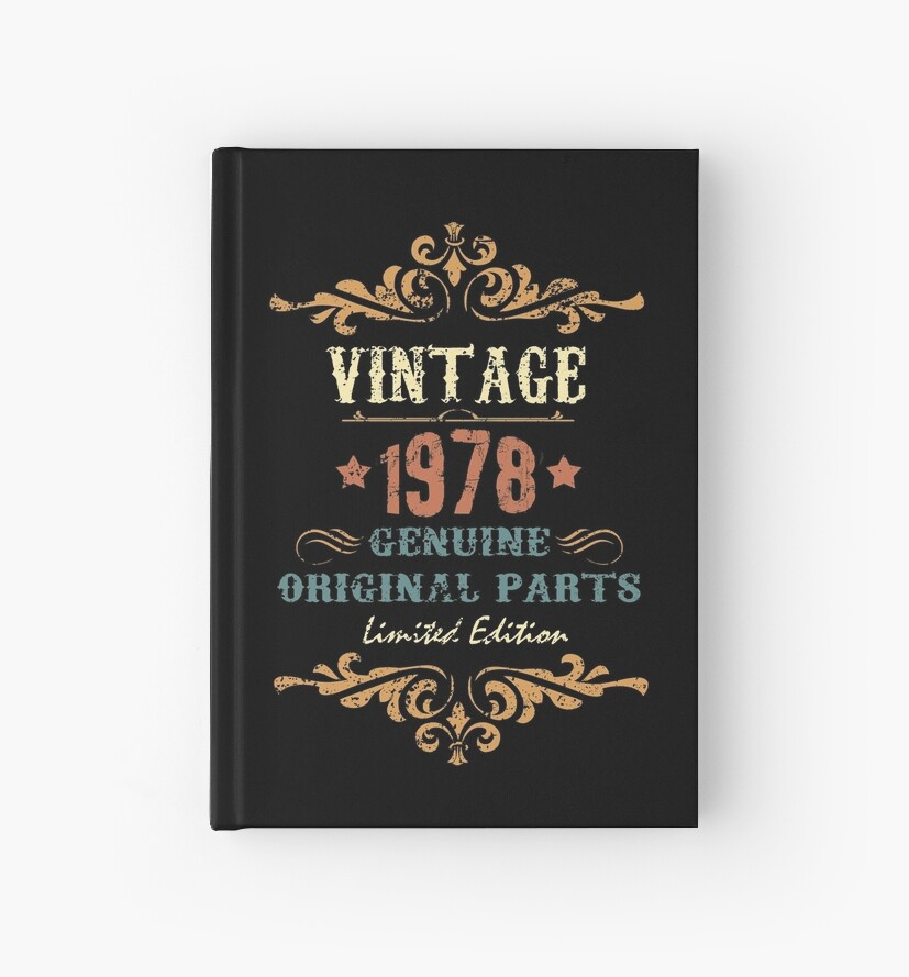 f0cdcbc4092 40th Birthday Gift T-shirt Vintage 1978 Genuine Original Parts Limited  Edition