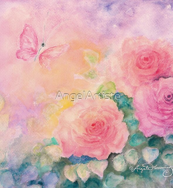 Roses In Softest Mist by AngelArtiste