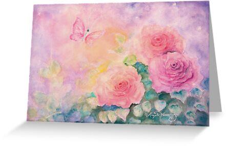 Roses In Softest Mist by AngelArtiste