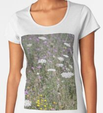 Mackinac Island Wildflowers Women's Premium T-Shirt