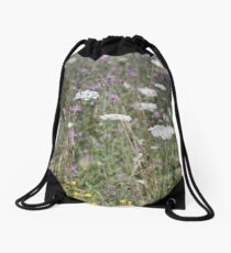 Mackinac Island Wildflowers Drawstring Bag