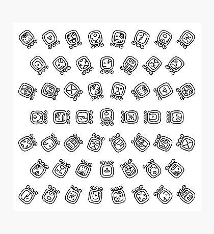 Maya astrology symbols pattern Impression photo