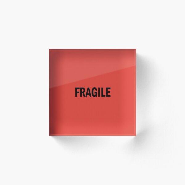 Fragile Acrylic Block