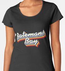 Batemans Bay, NSW   Retro Rainbow Women's Premium T-Shirt