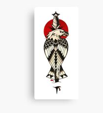 Traditional American eagle with a dagger Canvas Print