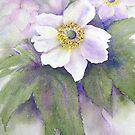 Japanese Anemone (Original painting sold) by Jacki Stokes