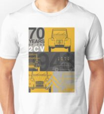 Citroen 2CV 70th anniversary Graphic Art Unisex T-Shirt