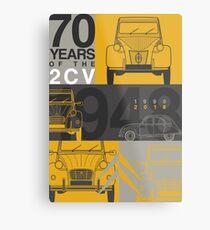 Citroen 2CV 70th anniversary Graphic Art Metal Print
