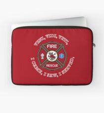 Fire Rescue VVV Maltese Cross Shield Laptop Sleeve