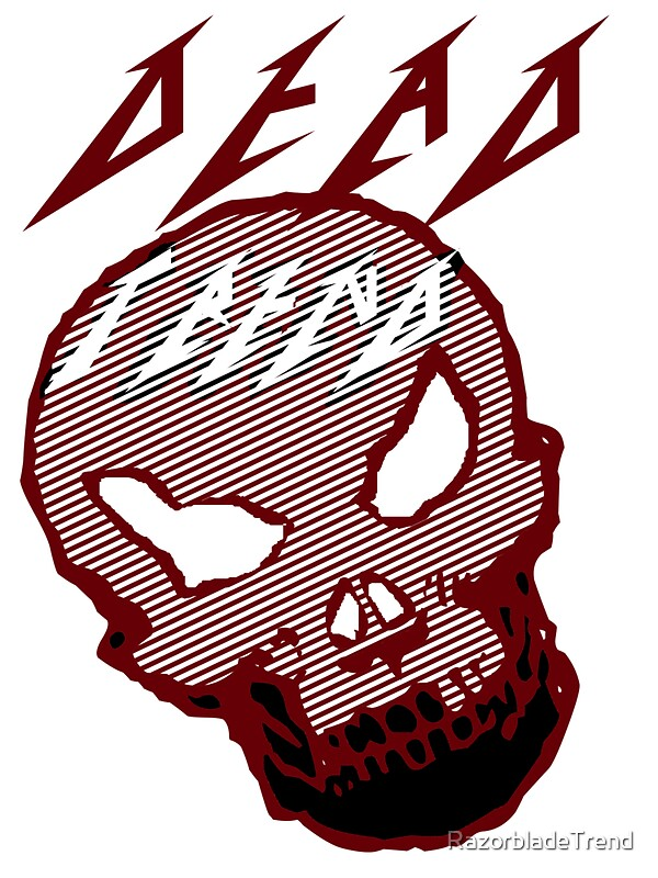 """Dead Trend (Evil Skull) Metallica Font"" Stickers By"