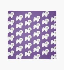 Bichon Frise dog on Ultraviolet, 2018 Bichon , Year of the dog, Pantone Ultraviolet Scarf