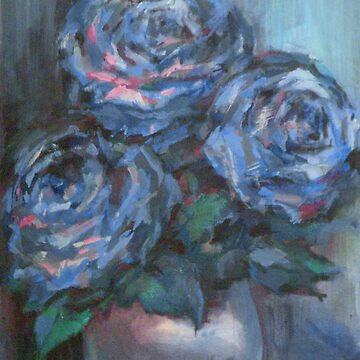 Abstract Roses on Silk by Anthropolog