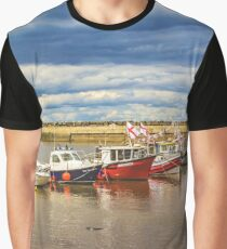 Fishing boats in Staithes Harbour Graphic T-Shirt