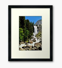 The Mist Trail  Framed Print