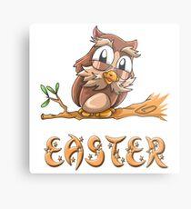 Easter Owl Metal Print