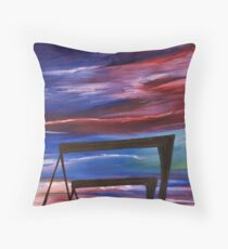 Harland and Wolff Cranes silhouette   Throw Pillow