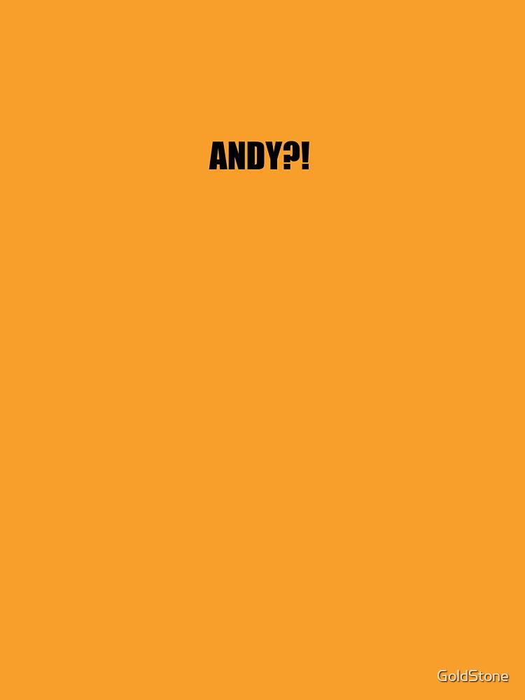 Pee-Wee Herman - ANDY?! - Black Font by GoldStone