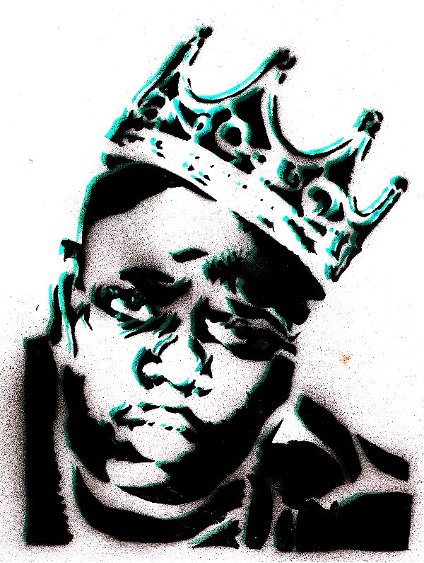 Biggie Smalls stncil by i811st