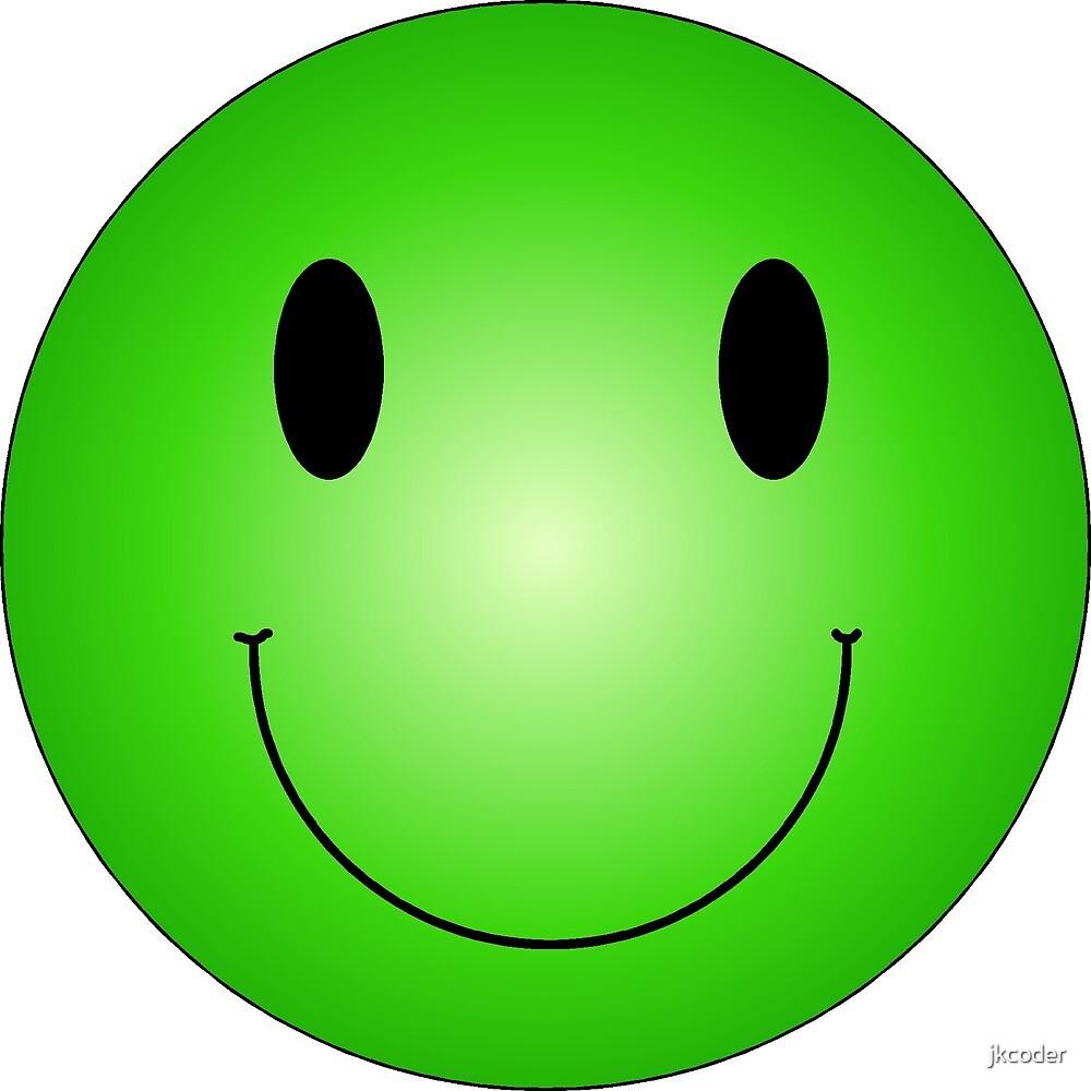 Smiley Vert Par Jkcoder Redbubble