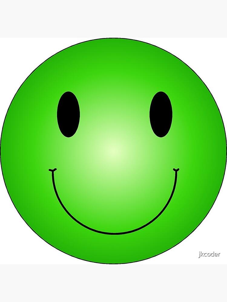 Green Smiley Photographic Print