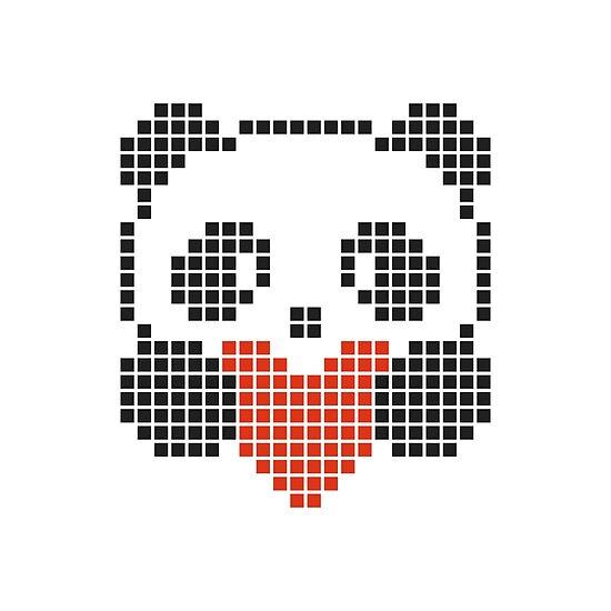 Pixel Art Pandas